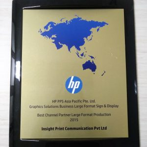 HP Best Channel Partner 2015 - Large Format